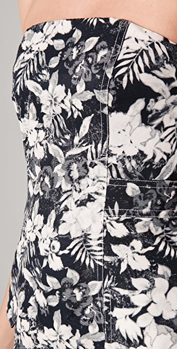 Alexander Wang Botanical Cargo Dress with Sheer Panels