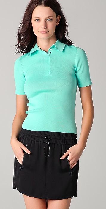Alexander Wang Technical Short Sleeve Polo