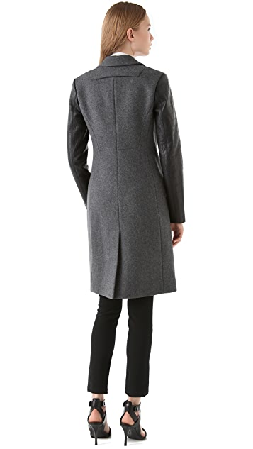 Alexander Wang Wool Felt Tailored Coat