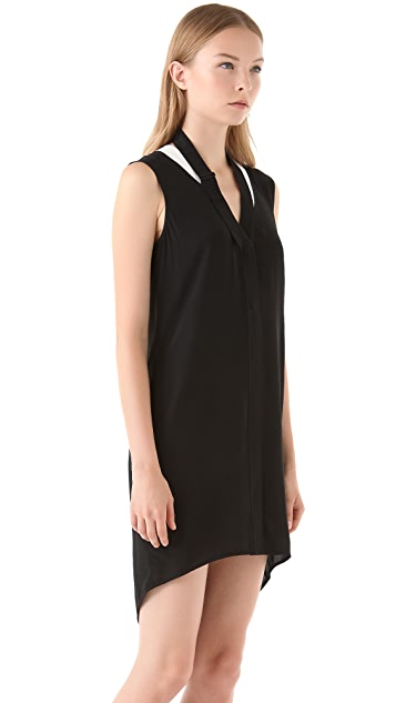 Alexander Wang Tumbled Crepe Dress
