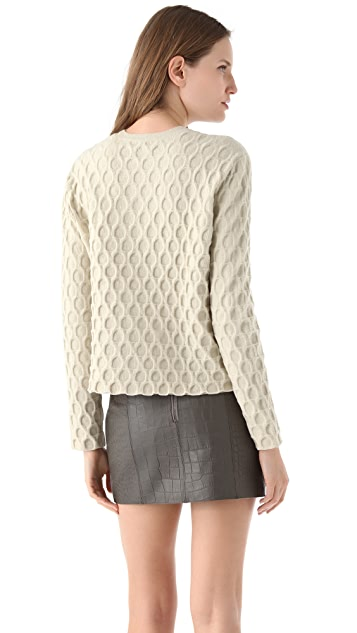 Alexander Wang Large Embossed Sweater