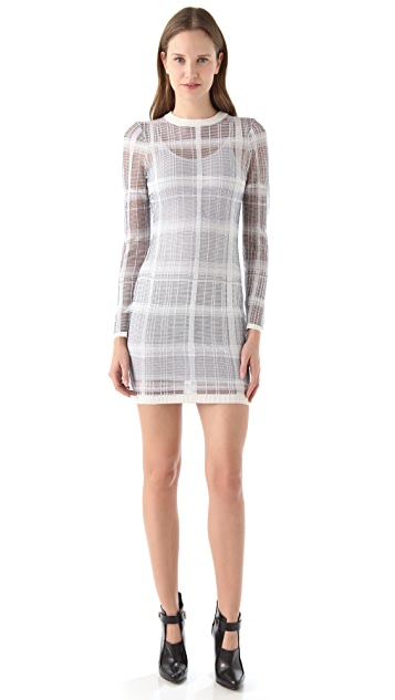 Alexander Wang Trompe l'Oeil Plaid Dress