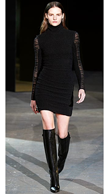 Alexander Wang Smocked Chiffon Dress
