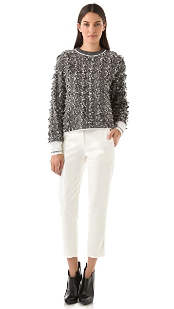 Alexander Wang Frayed Tweed Pullover