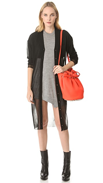 Alexander Wang Draped Knit Sleeveless Dress