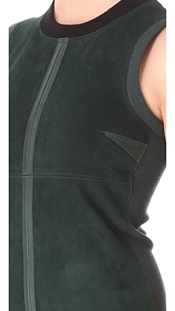 Alexander Wang Wool Suede Sleeveless Dress