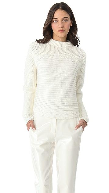 Alexander Wang Mixed Rib Pullover