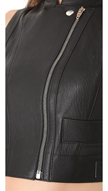 Alexander Wang Biker Apron Leather Vest