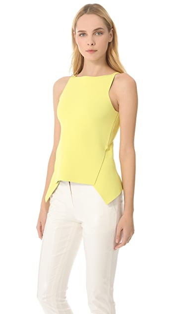 Alexander Wang Double Face Peplum Top