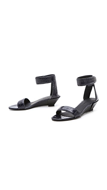Alexander Wang Vika Croc Wedge Sandals