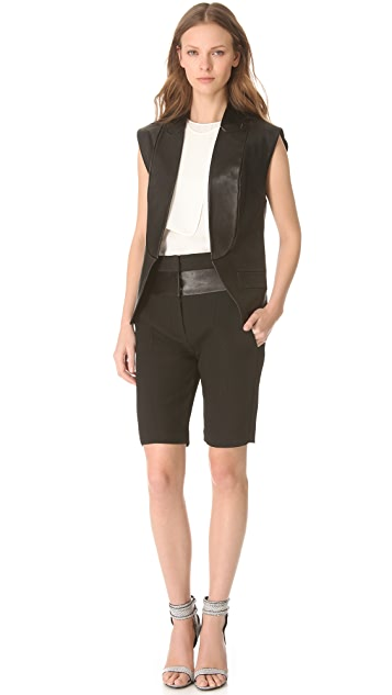Alexander Wang Leather Band Bermuda Shorts