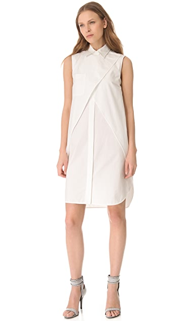 Alexander Wang Layered Shirtdress with Cutouts