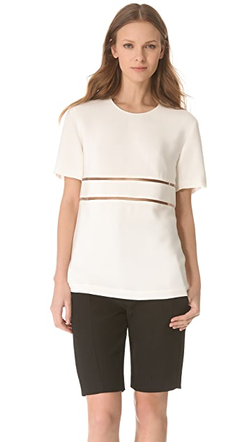 Alexander Wang Scoop Neck Fishline Tee