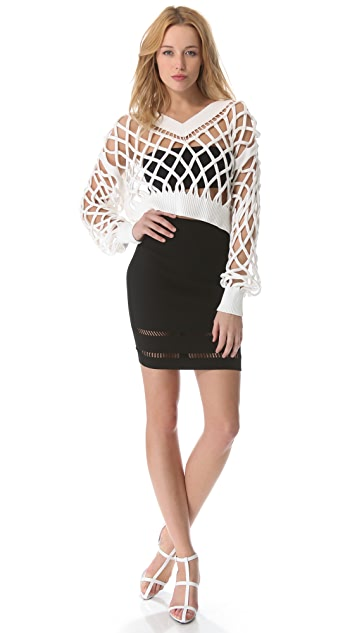 Alexander Wang Lattice Cable Pullover
