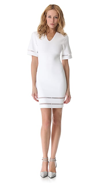 Alexander Wang Suspension Short Sleeve Dress