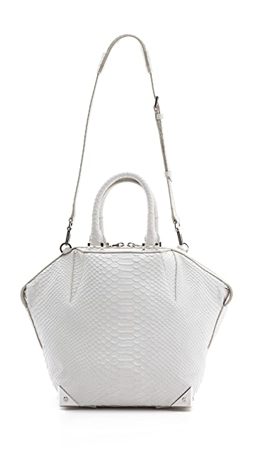 Alexander Wang Small Emile Python Embossed Satchel