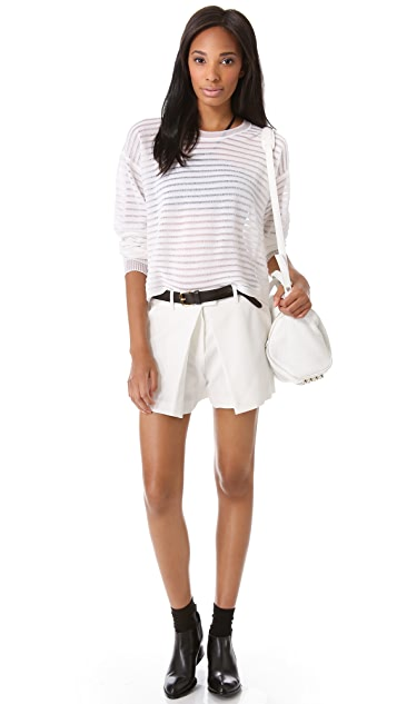 Alexander Wang Pleated Shorts