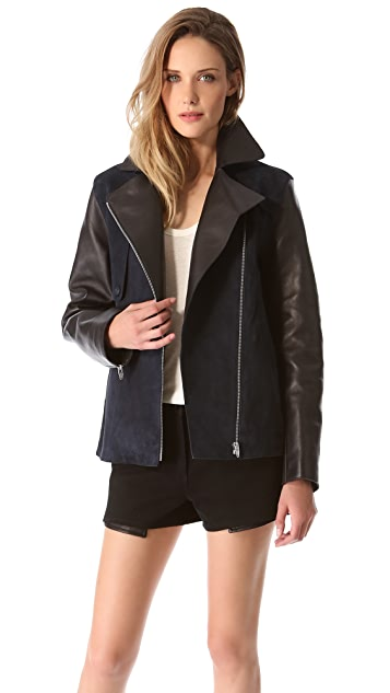 Alexander Wang Raw Edge Suede Jacket