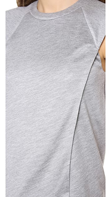 Alexander Wang Asymmetrical Sweatshirt Tee