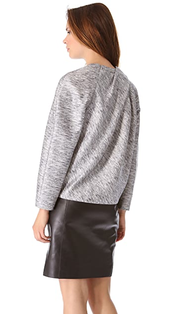 Alexander Wang Drape Neck Tailored Top