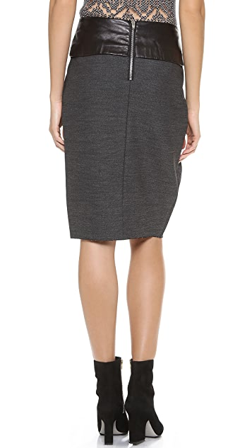 Alexander Wang Pleated Low Waist Skirt