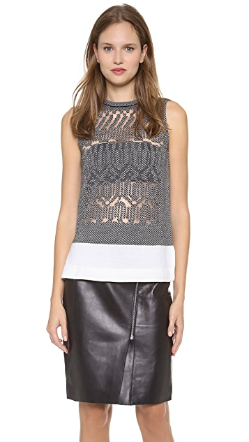 Alexander Wang Burnout Fair Isle Tank