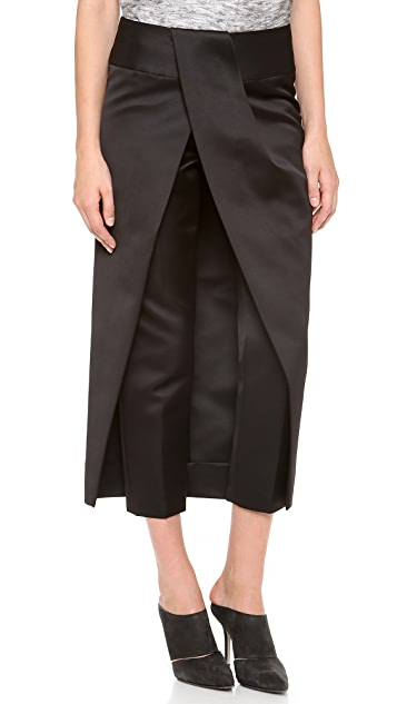 Alexander Wang Tuck Front Skirt Pants