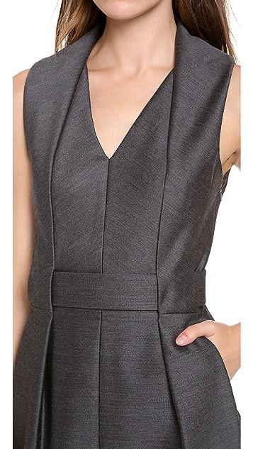 Alexander Wang Folded V Neck Belted Dress