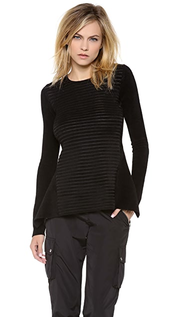 Alexander Wang Stripe Peplum Top