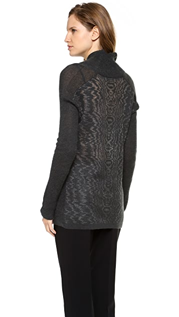 Alexander Wang Brushed Moire Long Sleeve Pullover