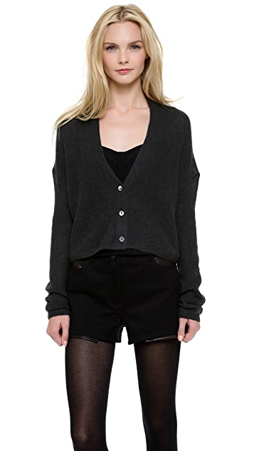 Alexander Wang Brushed Moire Cardigan