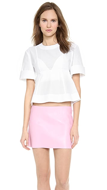 Alexander Wang Suspended Cotton Dobby T Shirt
