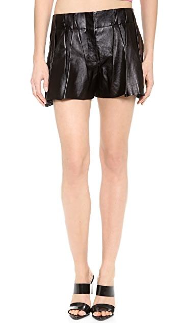 Alexander Wang Leather Bloomer Shorts