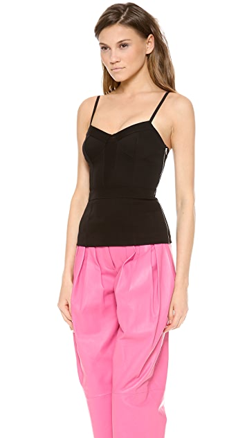 Alexander Wang Mesh Panel Bustier Camisole