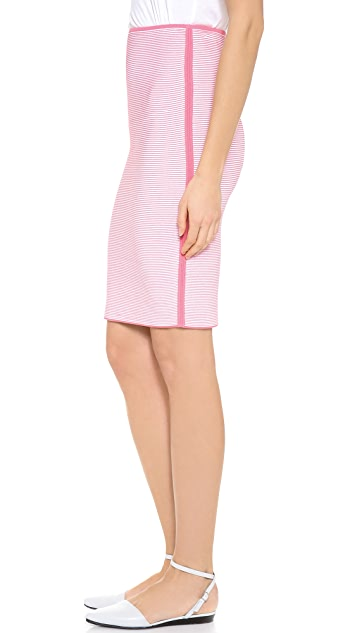Alexander Wang Optical Stripe Pencil Skirt