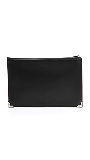 Alexander Wang Prisma Skeletal Flat Cracked Pouch