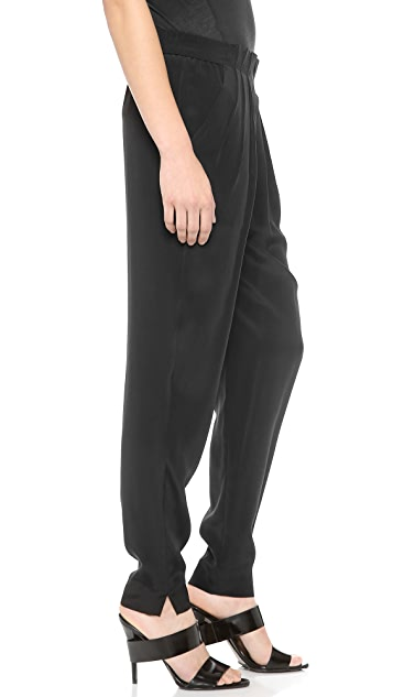 Alexander Wang Irregular Pleat Front Pants