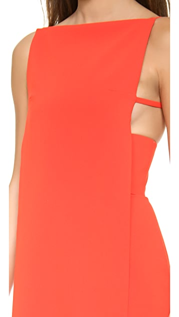 Alexander Wang Boat Neck Bra Strap Dress