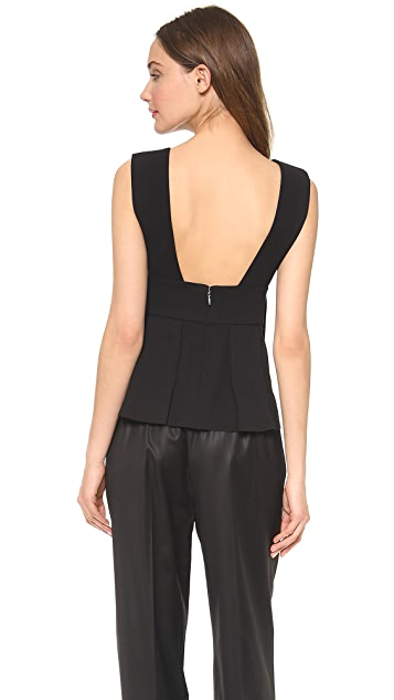 Alexander Wang Sleeveless Box Pleat Top