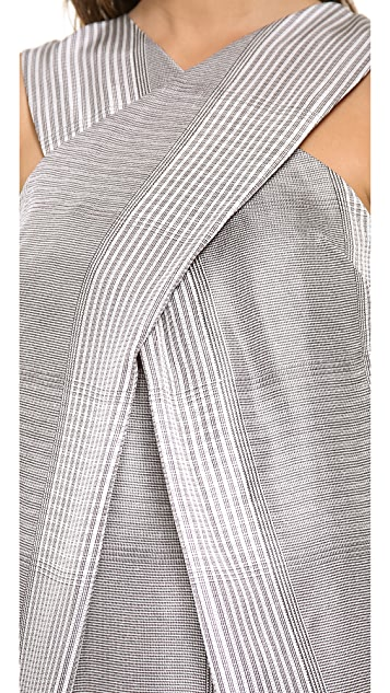 Alexander Wang Boxy Houndstooth Short Dress