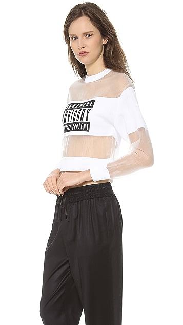 Alexander Wang Parental Advisory Sweatshirt