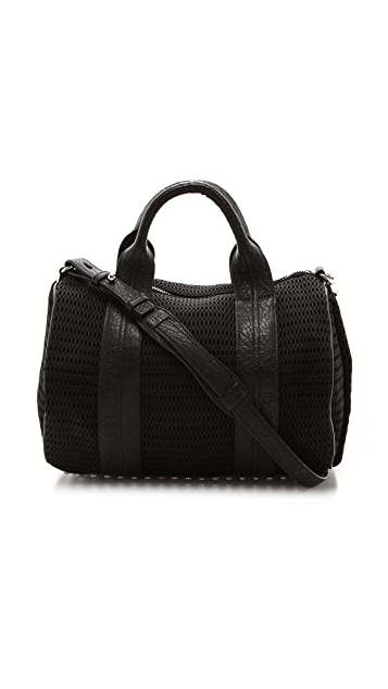 Alexander Wang Rocco Mesh Duffel Bag with Rhodium Hardware
