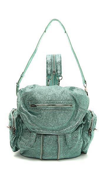 Alexander Wang Marti Foiled Shrunken Backpack