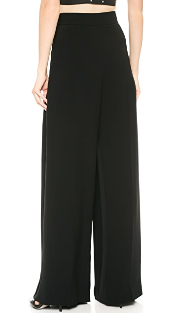 Alexander Wang High Waist Pleated Crepe Pants