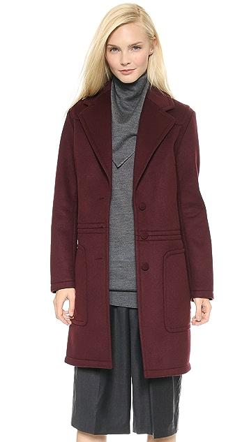 Alexander Wang Dropwaist Bonded Coat