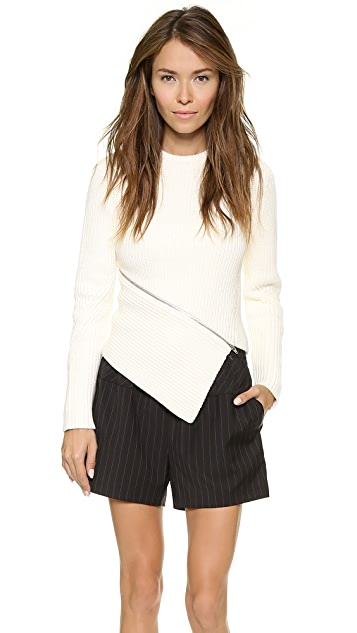 Alexander Wang Zip Peel Away Pullover