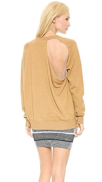 Alexander Wang Peel Away Sheer Back Sweatshirt