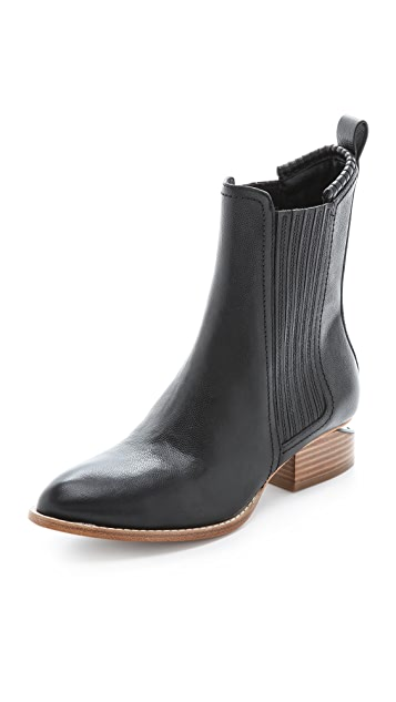 Alexander Wang Anouck Chelsea Boots with Natural Heel