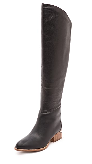 Alexander Wang Sigrid Tall Boots with Natural Heel