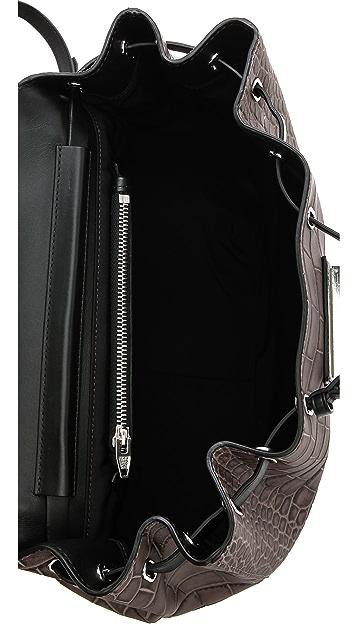Alexander Wang Prisma Croc Embossed Backpack
